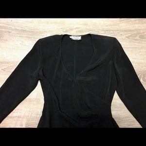Valentino Dresses - Valentino Miss V Side Ruched Black Dress S…